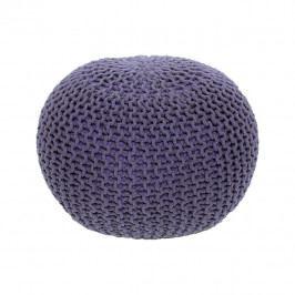 TEMPO KONDELA Pletený taburet, fialová bavlna, GOBI TYP 2