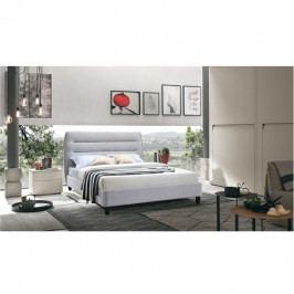 TEMPO KONDELA Manželská posteľ, sivý melír, 180x200, MAJESTIK