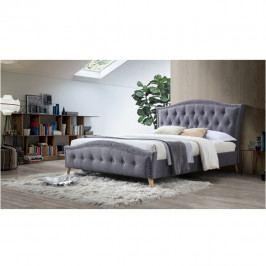 TEMPO KONDELA Manželská posteľ, sivá, 180x200, GIOVANA