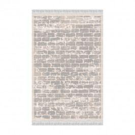 Koberec, sivá/vzor tehla, 80x200, MURO