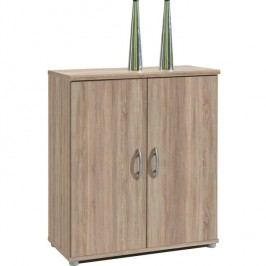 Komoda, 2 dverová, dub sonoma, LILLY 10