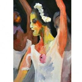 Obraz, ručne maľovaný, 60x90 cm, 33192