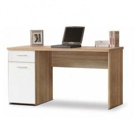 PC stôl, dub sonoma/biely, EGON