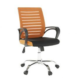 Kancelárska stolička, oranžová/čierna, LIZBON