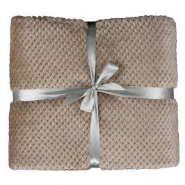 Obojstranná deka, svetlohnedá, 150x200, DEFANA TYP 1