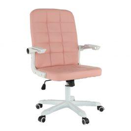 Kancelárske kreslo, biela/ružová, ZARGO