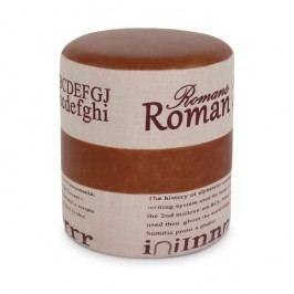 Taburet, svetlo hnedá/béžová, ROMAN 1