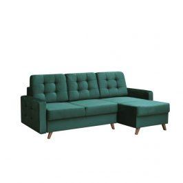 Univerzálna sedacia súprava, smaragdová/orech, MEDLIN