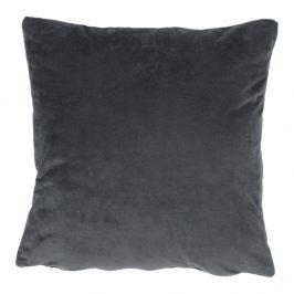 Vankúš, zamatová látka tmavosivá, 45x45, ALITA TYP 8