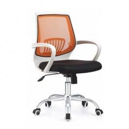 Kancelárske kreslo s čiernym sedákom, oranžová opierka, LANCELOT