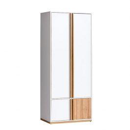 2-dverová skriňa, orech select/biela, KNOX E1
