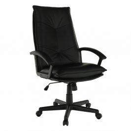 Kancelárske kreslo, čierna ekokoža, GOTHEL