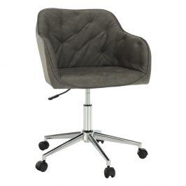 Kancelárske kreslo, sivobéžová/chróm, ELINOR