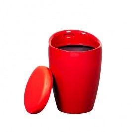 Taburet, červená/červená, DALILA NOVA