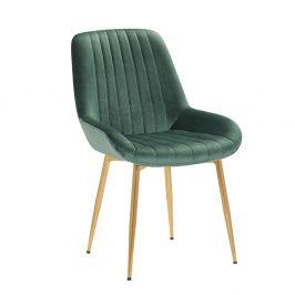Stolička, smaragdovozelená/gold chróm-zlatý, PERLOS