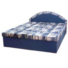 Manželská posteľ, modrá, EDVIN