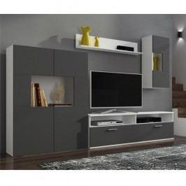 Obývacia stena, biela/sivá, FEITH