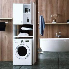 Skrinka na práčku, DTD laminovaná, biela, NATALI