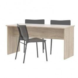 Kancelársky stôl obojstranný , dub sonoma, JOHAN NEW 08