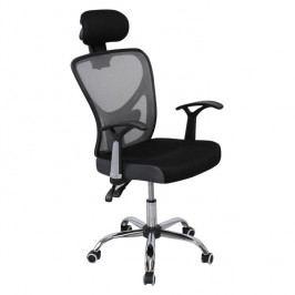 Kancelárska stolička, sieťka čierna/sivá, GRISEL