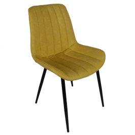 Stolička, žltá/čierna, HAZAL