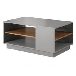 Konferenčný stolík, sivá/dub craft zlatý, TRIO