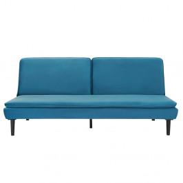Rozkladacia pohovka, modrá Velvet látka, BUFALA
