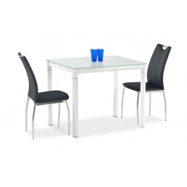Sklenený stôl ARGUS mliečna / biela Halmar