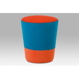 Taburet TAB-106 ORA2 oranžová / modrá Autronic