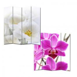 Dizajnový paravan WH orchidej 160x180 cm (4-dielny)