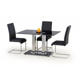 Jedálenský stôl sklenený WALTER 2 čierna Halmar