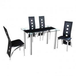 Jedálenský stôl ESTER oceľ / sklo Tempo Kondela