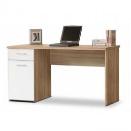 PC stůl, dub sonoma / bílý, EGON 0000083724 Tempo Kondela
