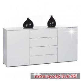Komoda SPICE 3 extra  biela vysoký lesk Tempo Kondela