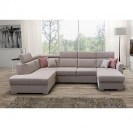 Luxusní sedací souprava, béžová / cihlová, levá, MARIETA U 0000195277 Tempo Kondela