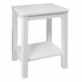 Nočný stolík FOSIL masív biela Tempo Kondela