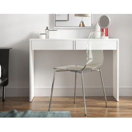 Toaletný stolík / písací stôl VIOLET Tempo Kondela Biela