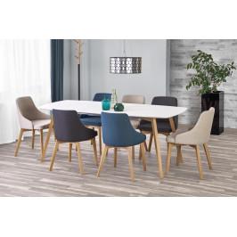 Jedálenský stôl rozkladací KAJETAN 150/200 biela / dub medový Halmar