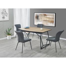 Jedálenský stôl COLOMBO rozkladací 160/210 dub zlatý / čierna Halmar