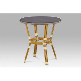 Záhradný stôl AZT-101 CAP zlatá / cappuccino Autronic