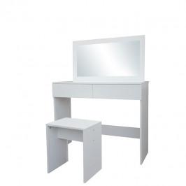 Toaletný stolík s taburetom LILIEN biela Tempo Kondela