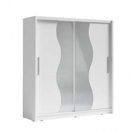 Vešiaková skriňa s posuvnými dverami BIRGAMO TYP 1 biela Tempo Kondela