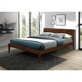 Manželská posteľ BEROTO orech Tempo Kondela 160 x 200 cm