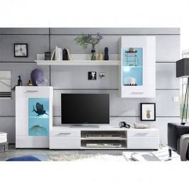 Obývacia stena HENRI NEW biela extra vysoký lesk / biela Tempo Kondela