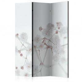 Paraván White Flowers Dekorhome 135x172 cm (3-dielny)