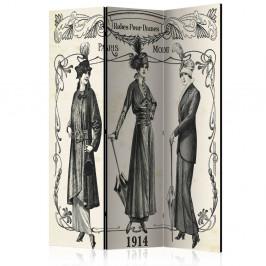 Paraván Dress 1914 Dekorhome 135x172 cm (3-dielny)