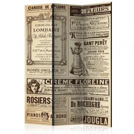 Paraván Vintage Magazines Dekorhome 135x172 cm (3-dielny)