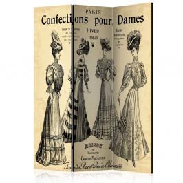 Paraván Confections pour Dames Dekorhome 135x172 cm (3-dielny)
