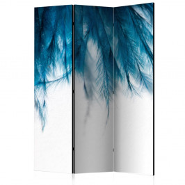 Paraván Sapphire Feathers Dekorhome 135x172 cm (3-dielny)