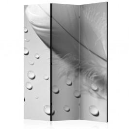 Paraván White Feather Dekorhome 135x172 cm (3-dielny)